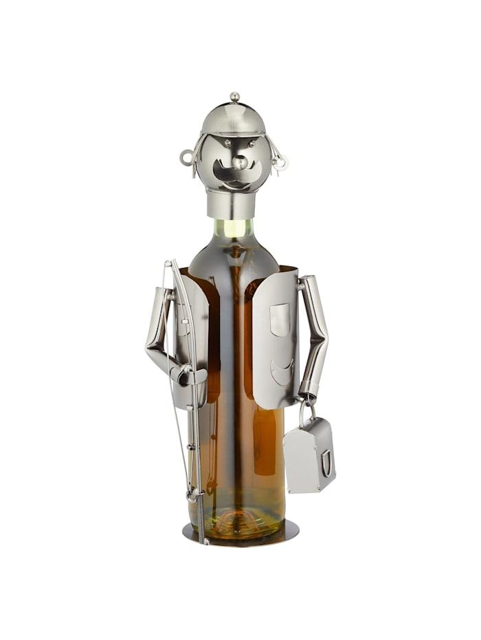 HTI-Living Weinflaschenhalter Angler, Silber