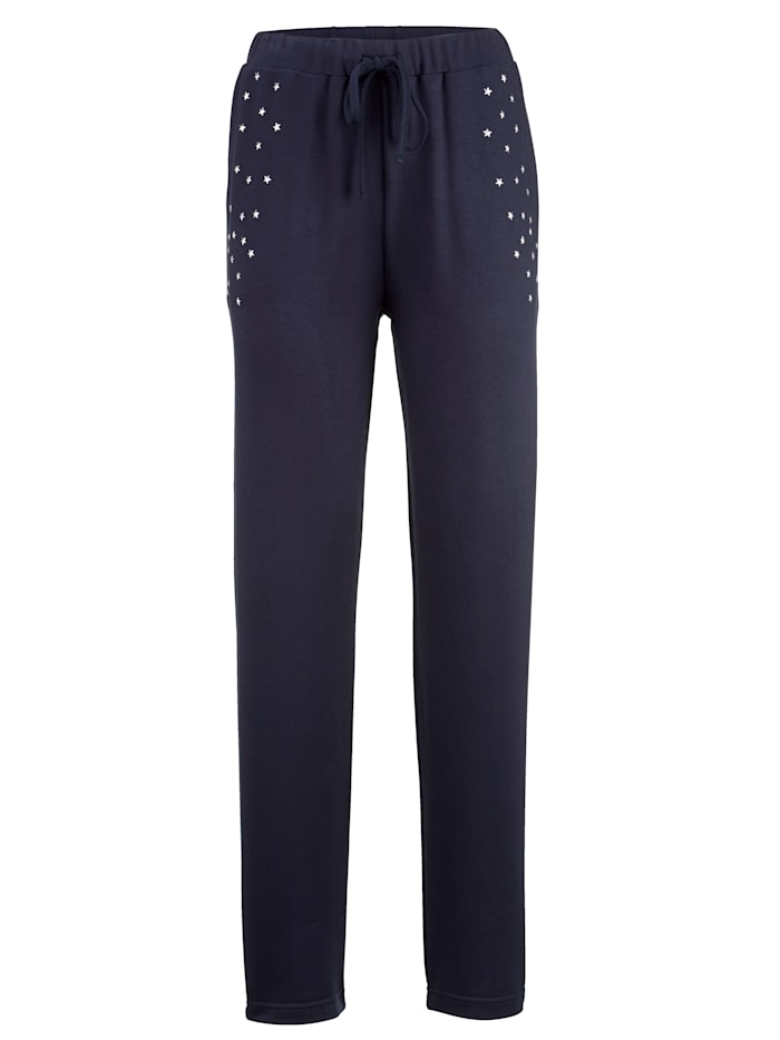 Leisure trousers with star print