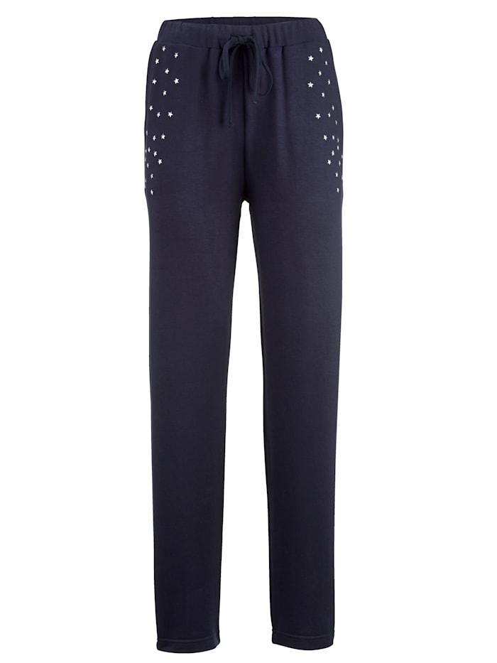 Pantalon de loisirs avec applications d'étoiles