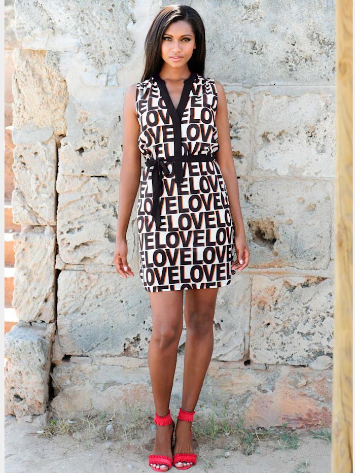 Strandkleid mit Schriftdruck
