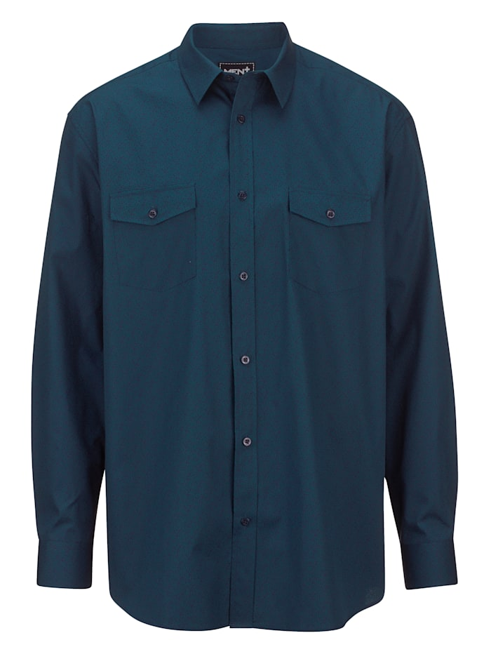 Men Plus Skjorta av 100% bomull, Blå/Petrol