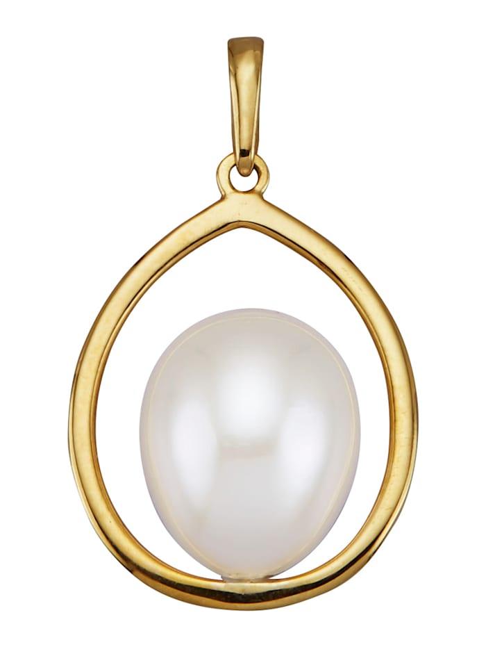 AMY VERMONT Pendentif avec perle de culture d'eau douce, Blanc
