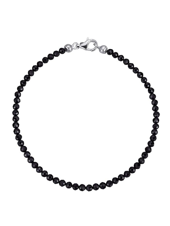 Spinell-Armband, Schwarz