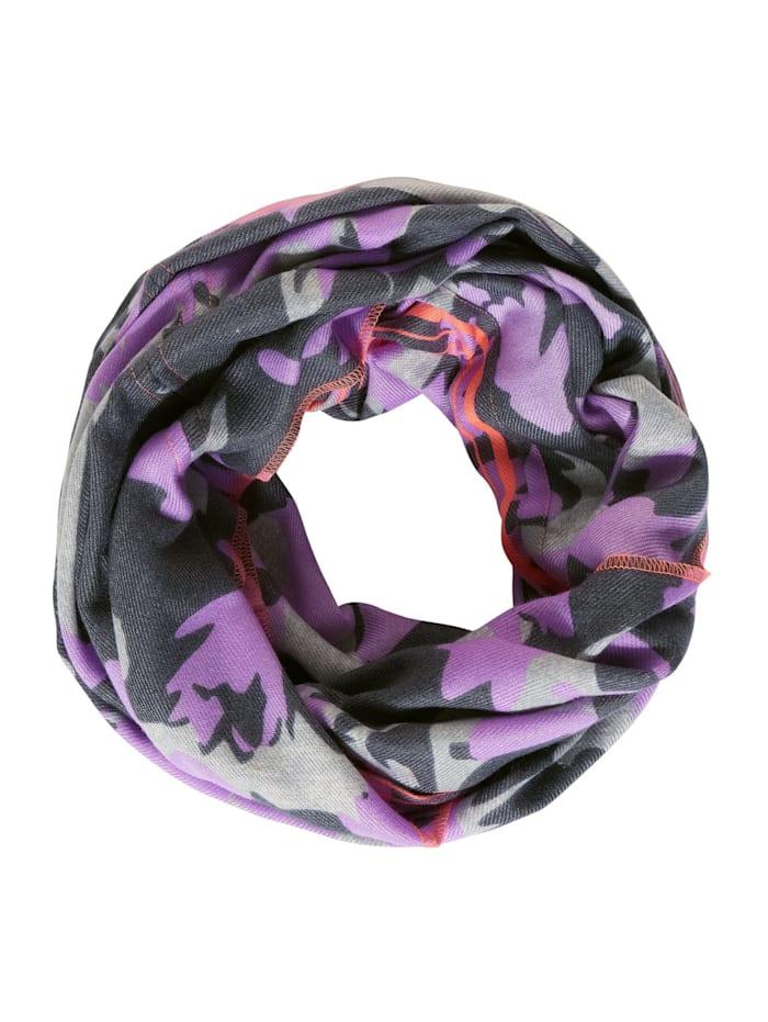 Cecil Cosy Loop mit buntem Print, soft violet