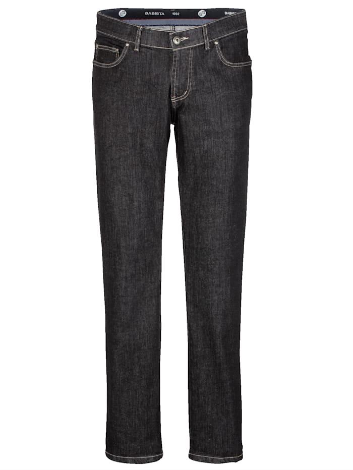 BABISTA Jeans met iets lagere band, Zwart