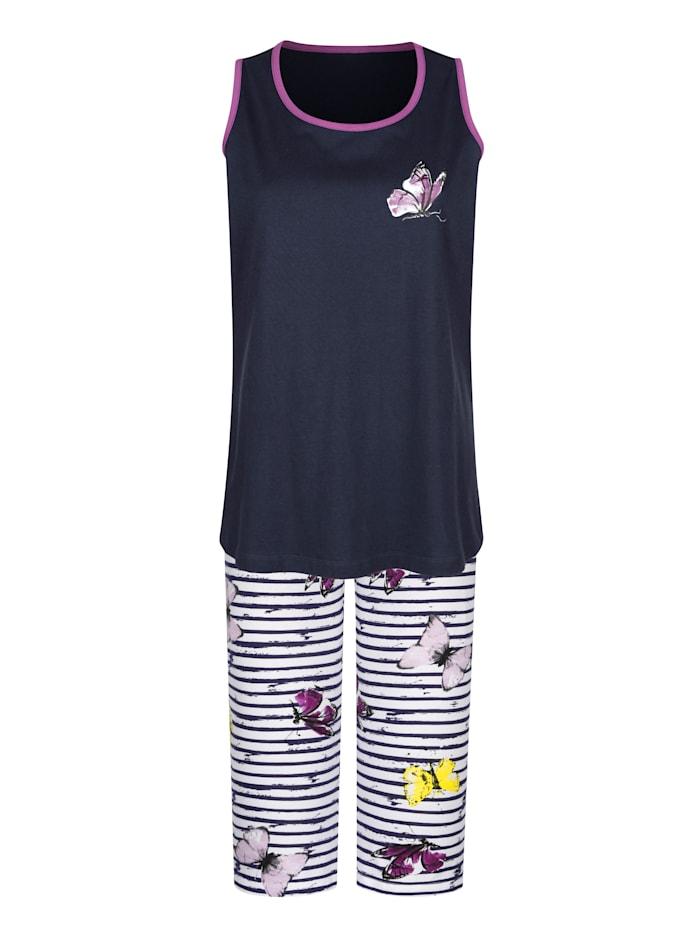 Pyjamas i 2-pack med fjärilsmönster