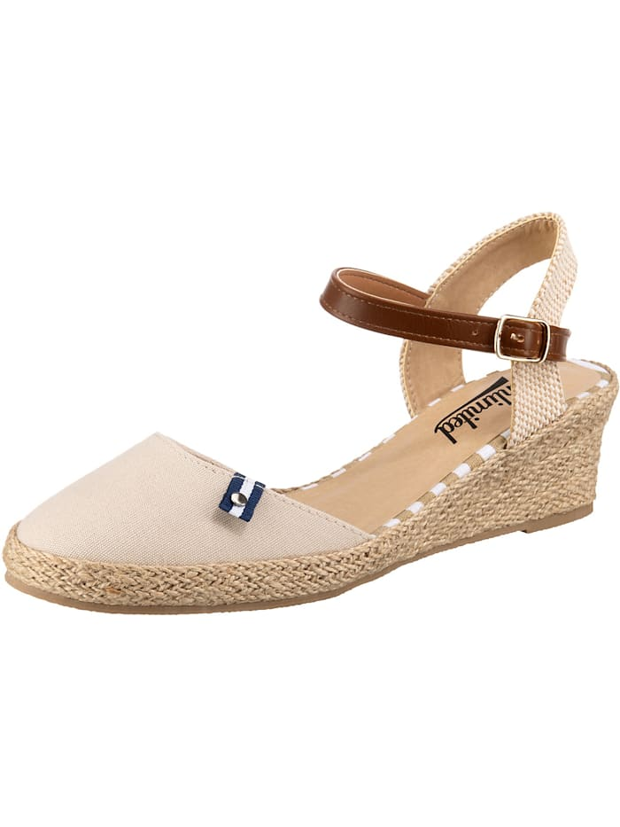 inselhauptstadt Classic Sandalette mit Keilabsatz, sand