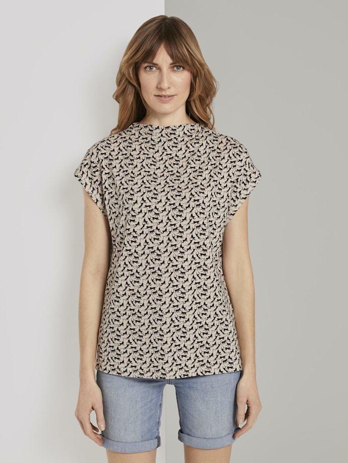 Tom Tailor T-Shirt mit Stehkragen, vanilla monkey small design