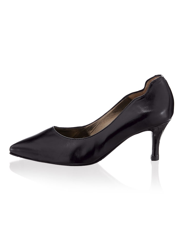 Pumps mit Wellen-Optik