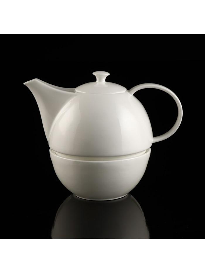 Kaiser Porzellan Kaiser Porzellan Teekanne mit Stövchen weiß, weiß