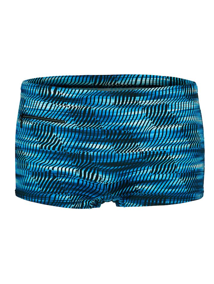 Maritim Badehose mit Reißverschlusstasche, Blau/Schwarz