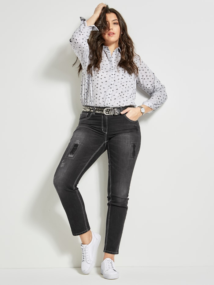 Angel of Style Jeans Carla, Schwarz
