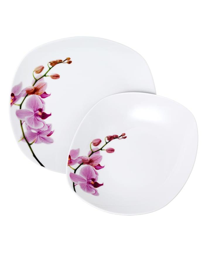 "Van Well Service de table 12 pièces ""Kyoto"", Blanc"
