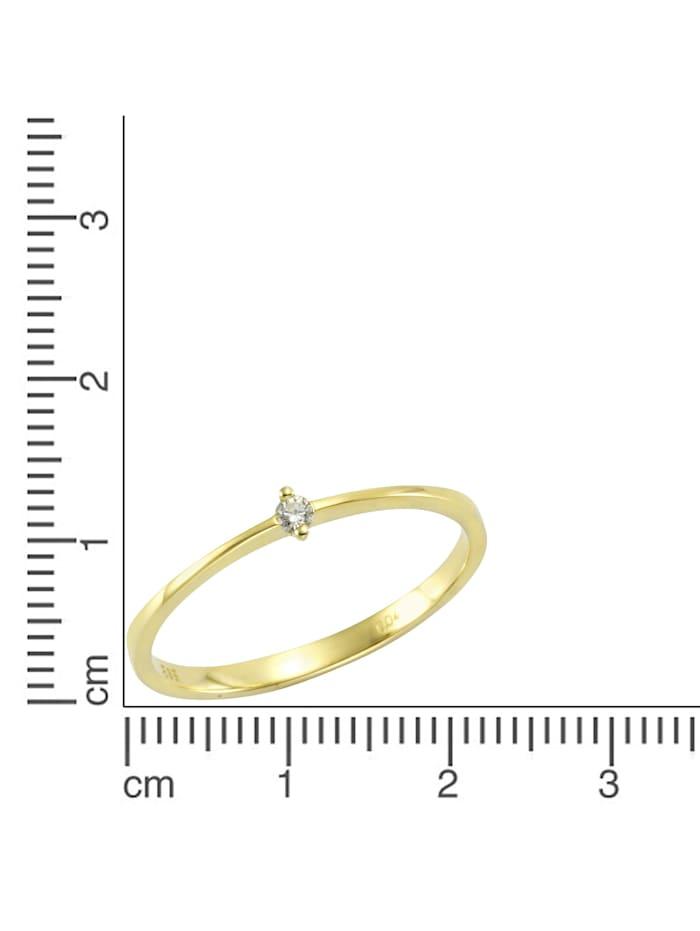 Ring 585/- Gold Brillant weiß Brillant Glänzend 0,04ct. 585/- Gold