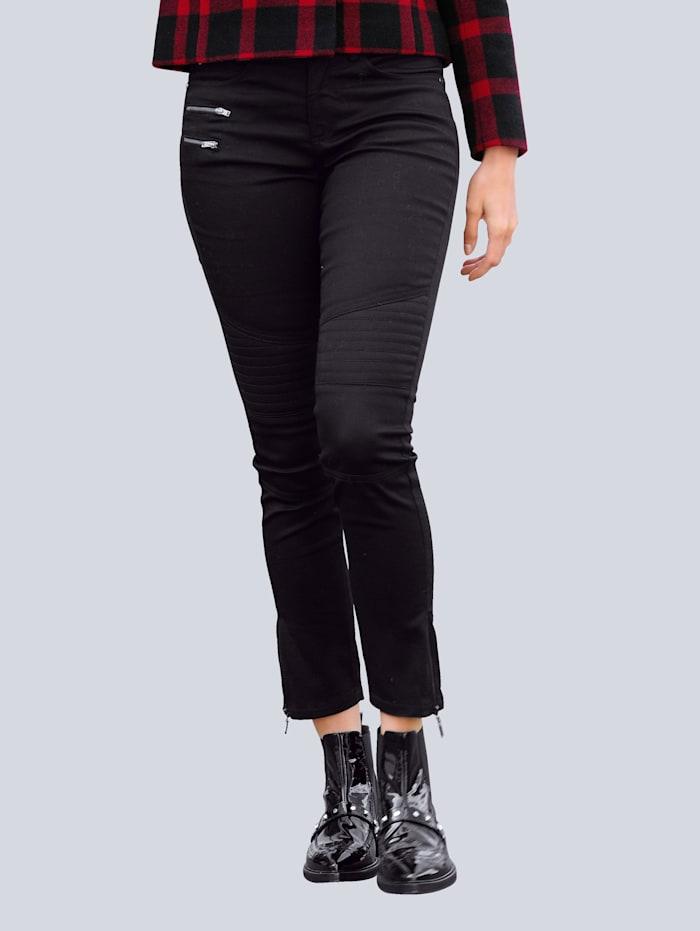Alba Moda Jean de style motard, Noir