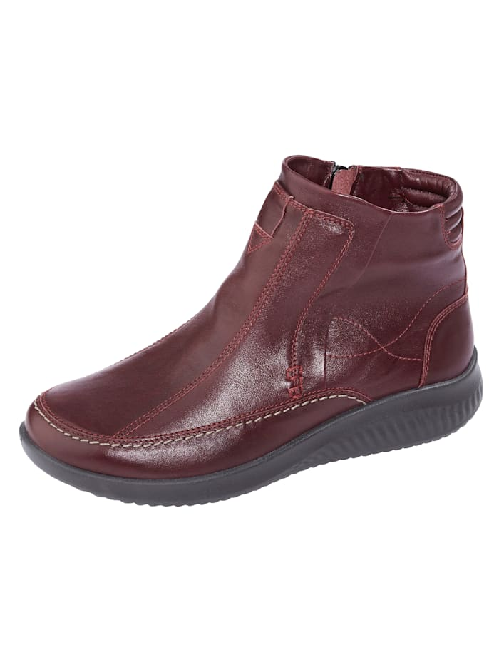 Naturläufer Ankle boots with wool lining, Red