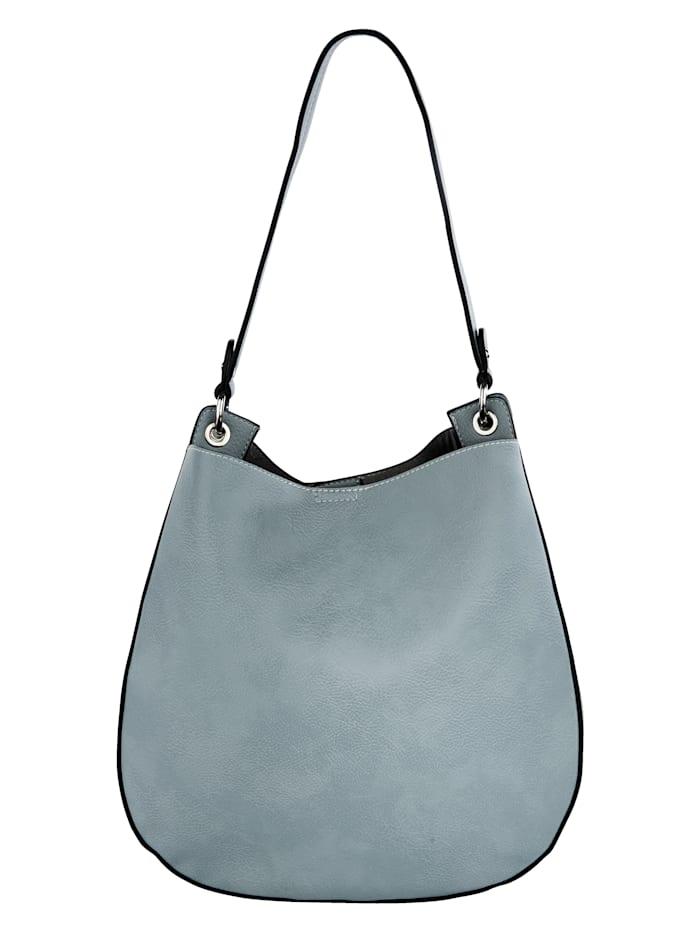 Handbag with a detachable logo pendant 2-piece