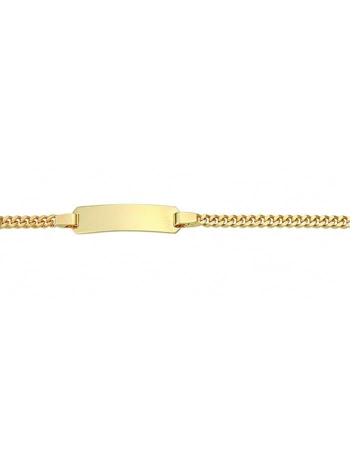1001 Diamonds Damen Goldschmuck 333 Gold Flach Panzer Armband 16 cm Ø 3 mm, gold