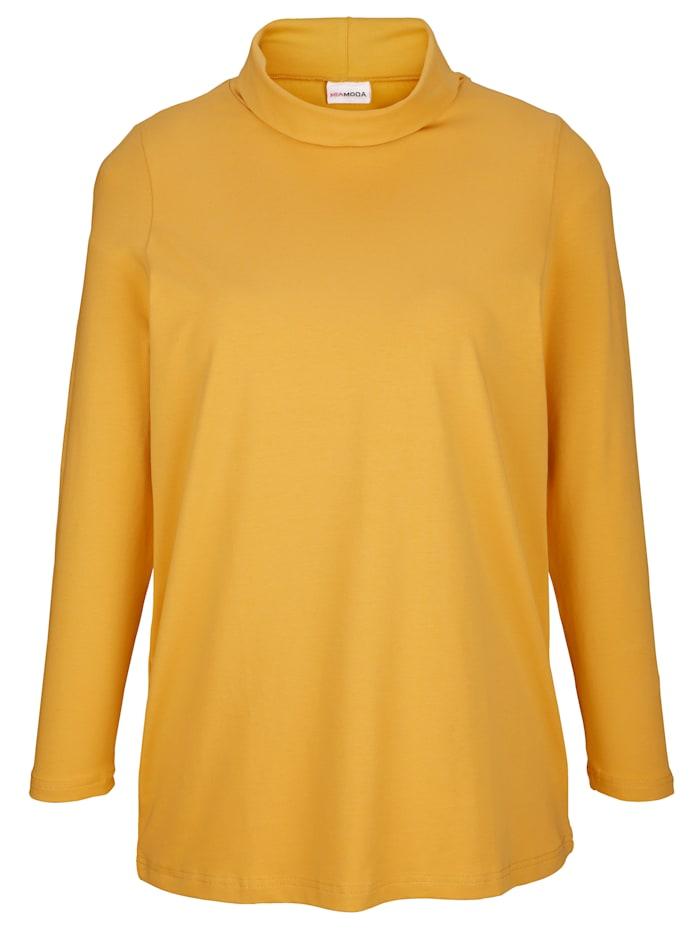 Shirt mit Rollkragen aus Single Jersey