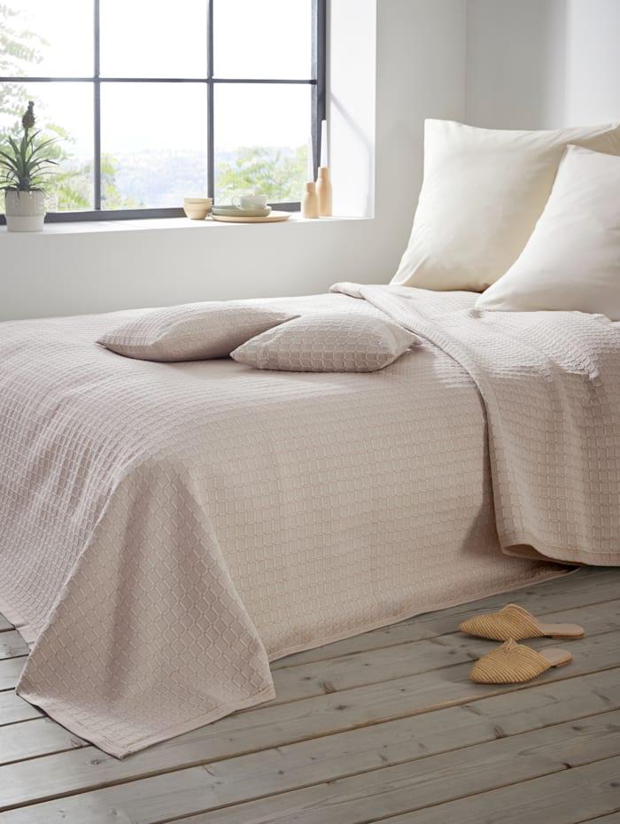 Webschatz Prikrývka na posteľ Samara, Krémová-biela
