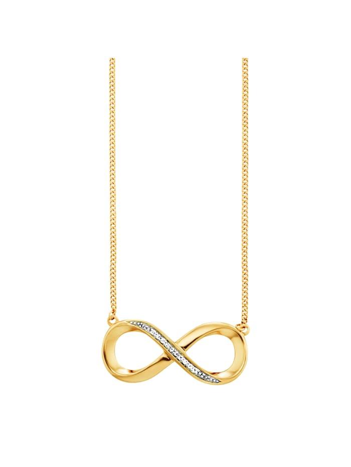 CAI Collier 925/- Sterling Silber Topas 42+3cm Glänzend 0,068ct, gelb