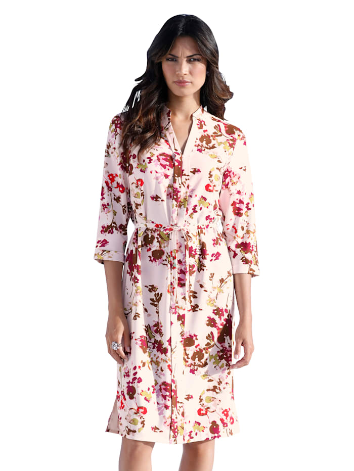 Blusenkleid mit Blumen-Druck