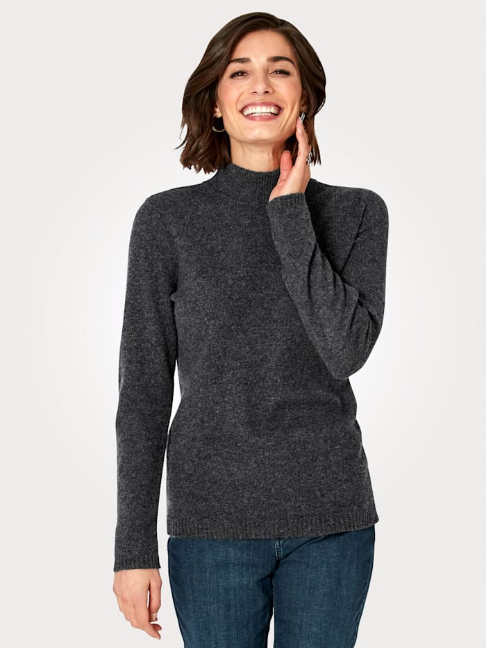MONA Pullover aus reinem Kaschmir, Anthrazit