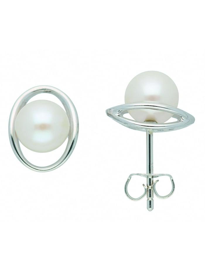1001 Diamonds 1001 Diamonds Damen Silberschmuck 925 Silber Ohrringe / Ohrstecker mit Süßwasser Zuchtperle, silber