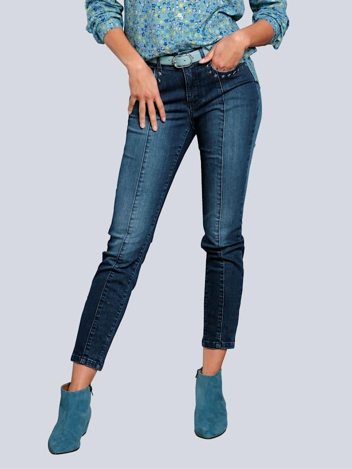 Alba Moda Jeans mit Sternchennieten am Tascheneingriff, Dark blue