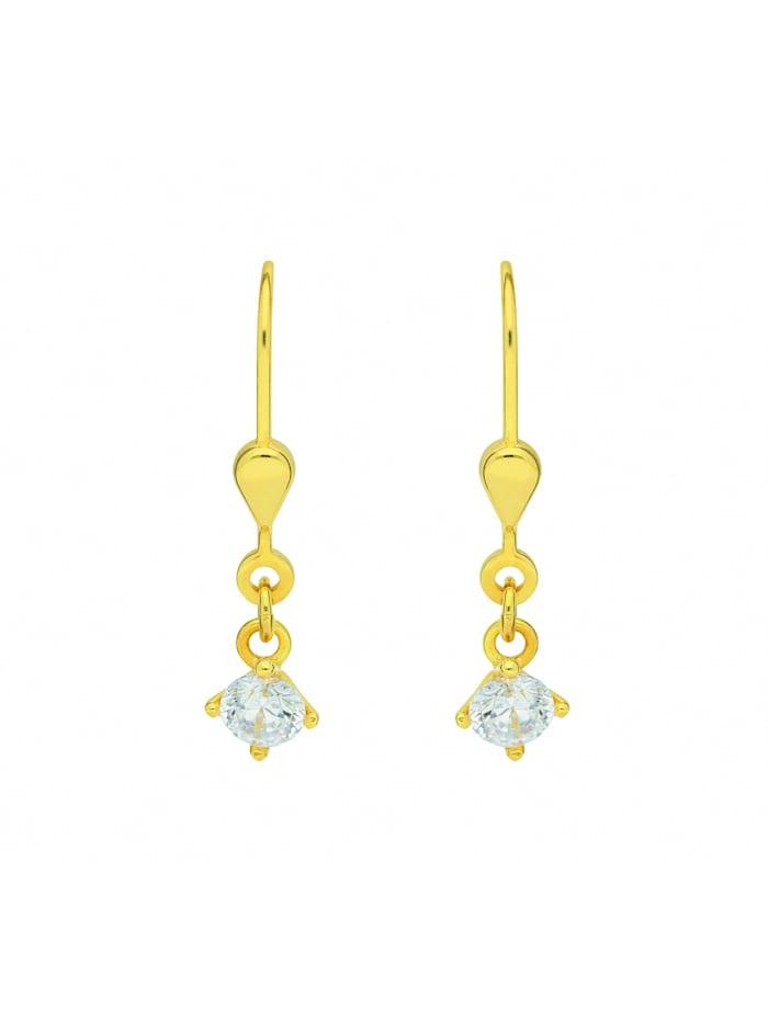 1001 Diamonds Damen Goldschmuck 333 Gold Ohrringe / Ohrhänger Herz mit Zirkonia, gold