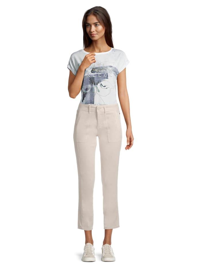 Casual-Hose mit aufgesetzten Taschen