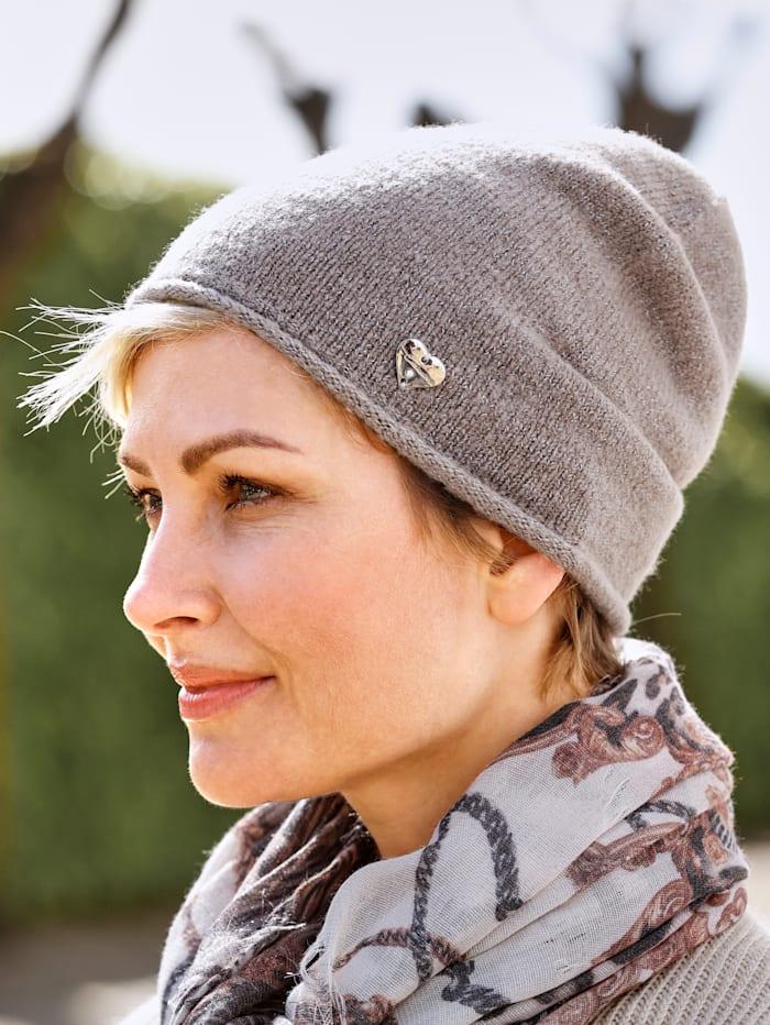 MONA Hat, Beige/Silver-Coloured