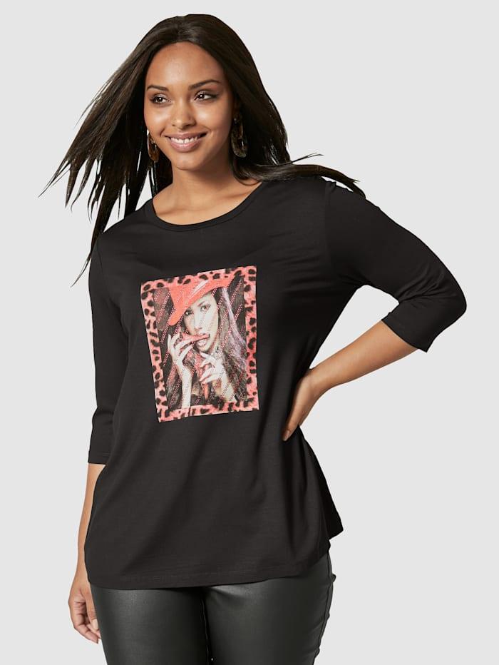 Angel of Style T-shirt à motif imprimé, Noir