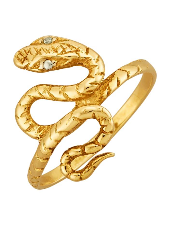 Bague Serpent en argent 925, doré, Coloris or jaune