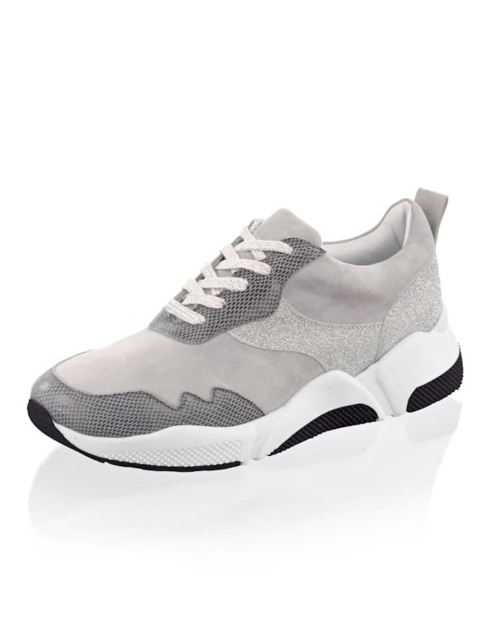 Alba Moda Sneaker in leichter Chunkyform, Grau