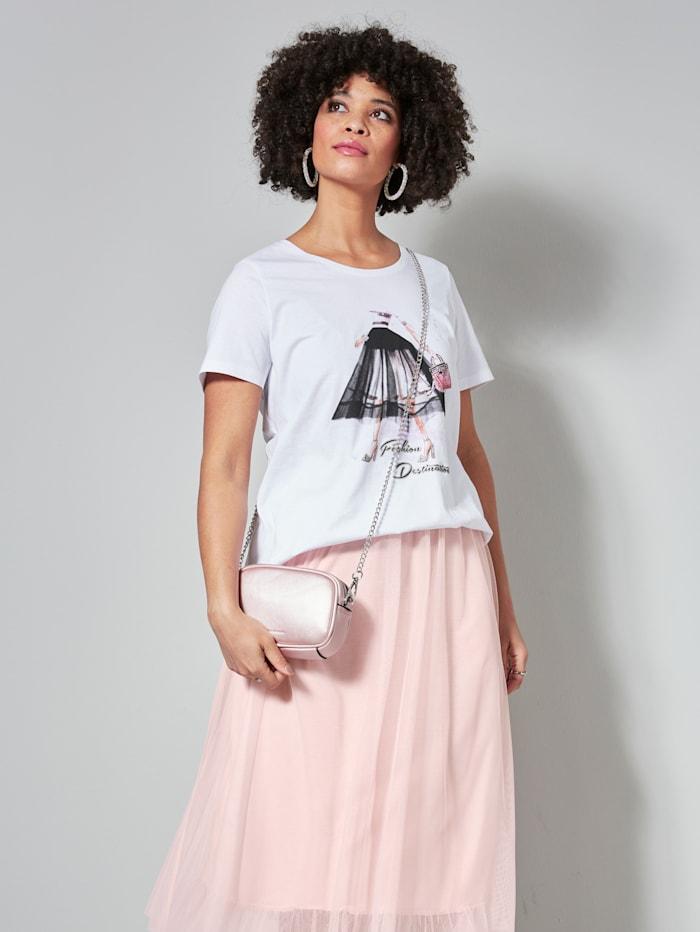 Angel of Style Shirt met print voor, Wit