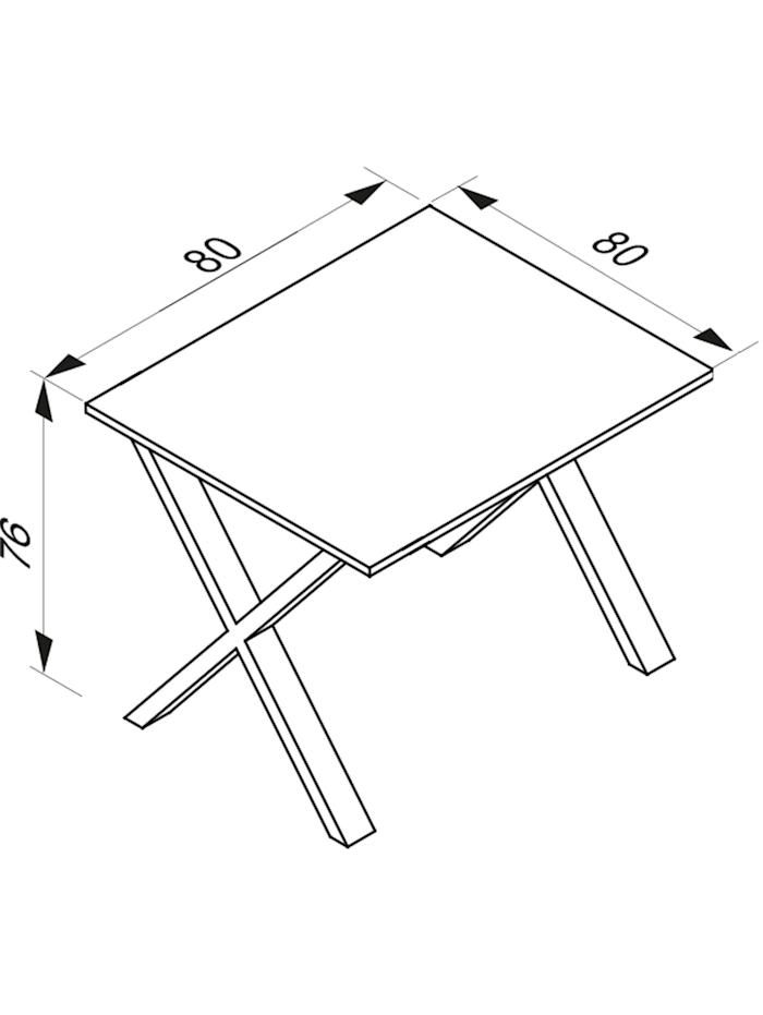 Büromöbel Schreibtisch Lona X Alu Schwarz