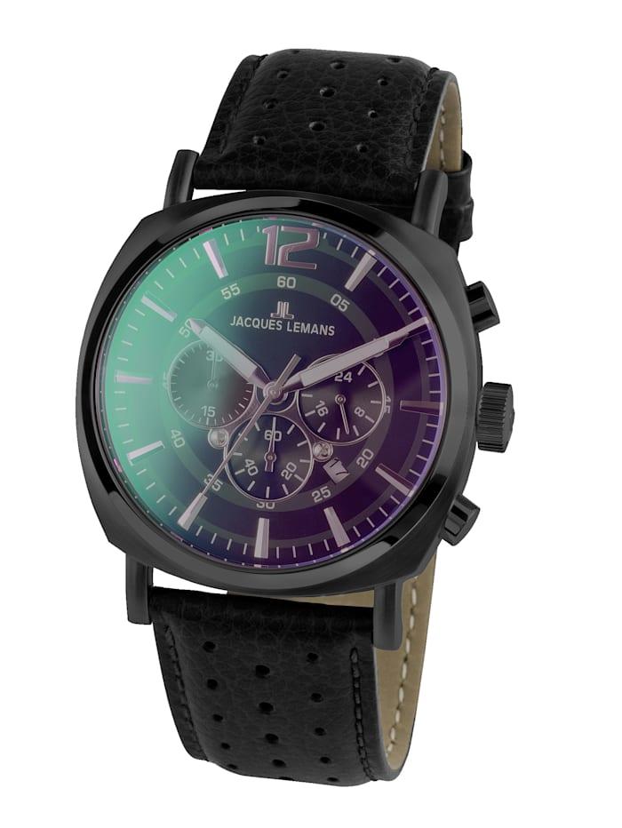 Jacques Lemans Herren-Uhr Chronograph Serie: Lugano, Kollektion: Sport 1-1645.1N, Schwarz