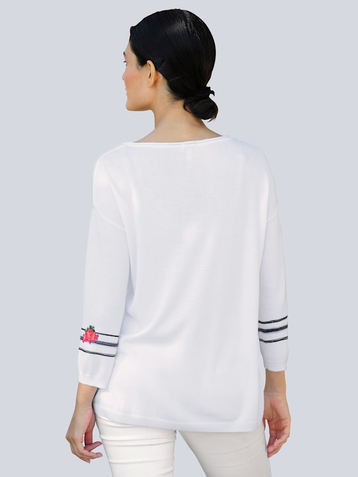 Pullover mit exklusivem Druckmotiv