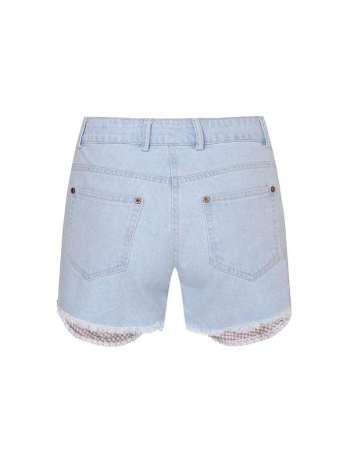 Jeans-Lederhose