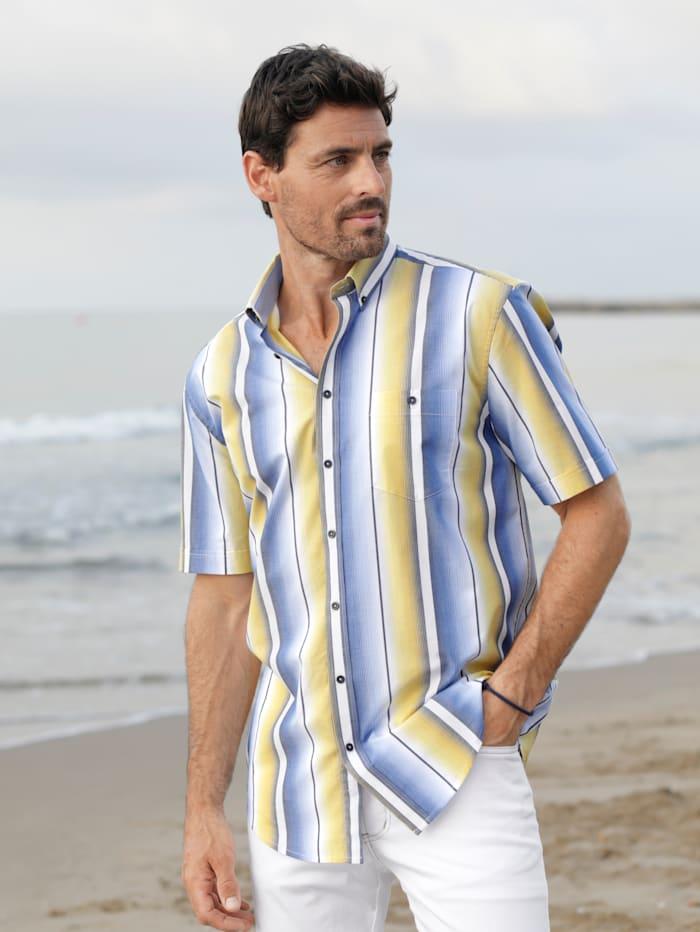 BABISTA Overhemd met kleurverloop, Geel/Blauw