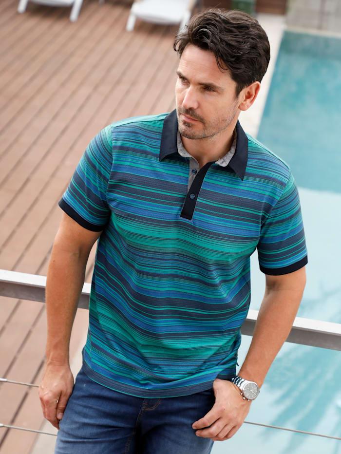 BABISTA Poloshirt mit Hemdkragen, Grün/Blau