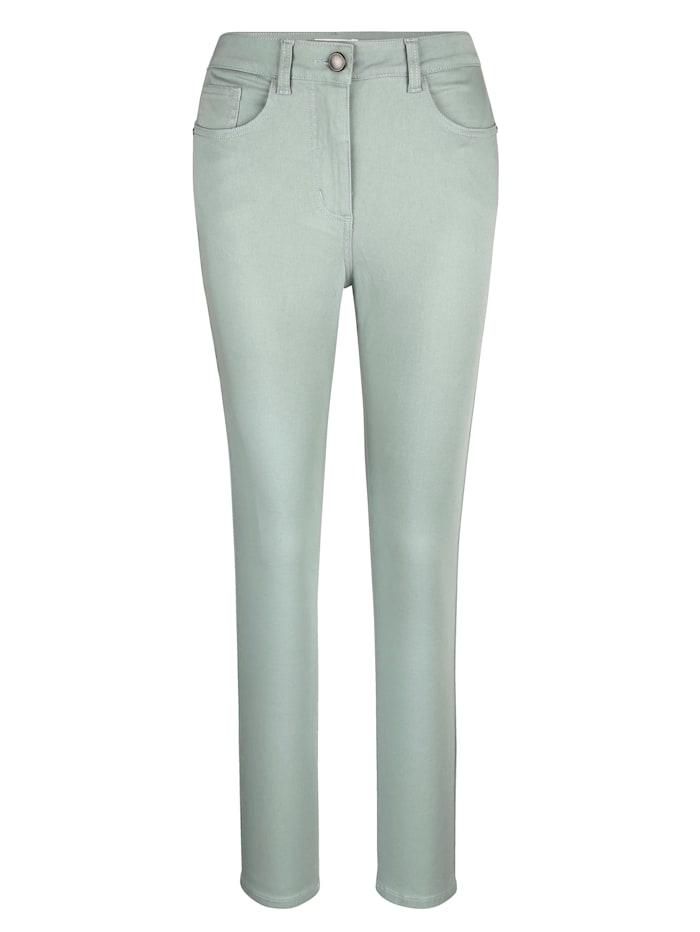 MONA Pantalon en matière extensible confortable, Menthe
