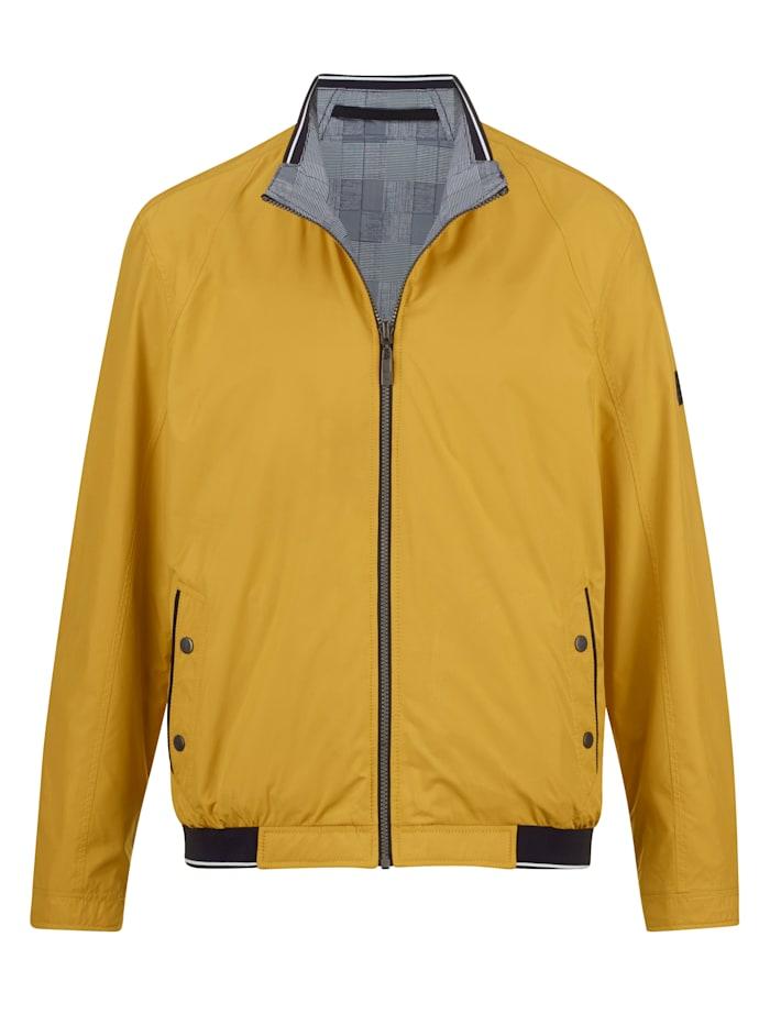 BABISTA Keerbare jas met 2 draagvarianten, Geel/Grijs