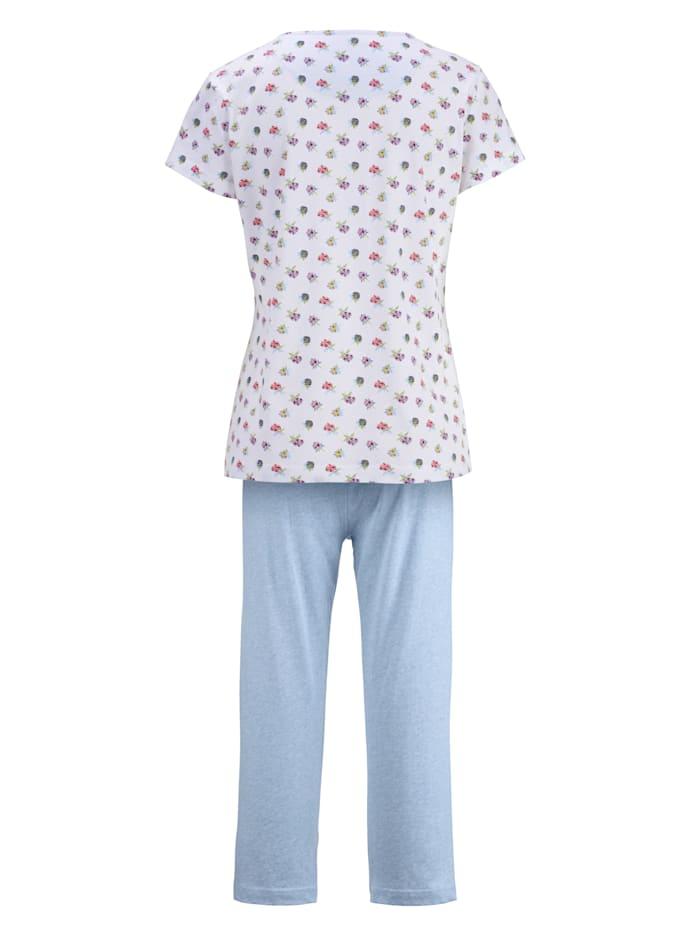 Schlafanzug mit dekorativem Halsausschnitt
