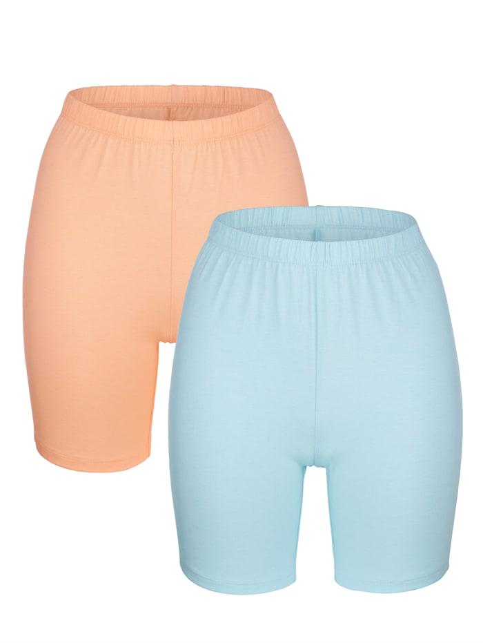 Blue Moon Lange boxershorts, Turquoise/Apricot