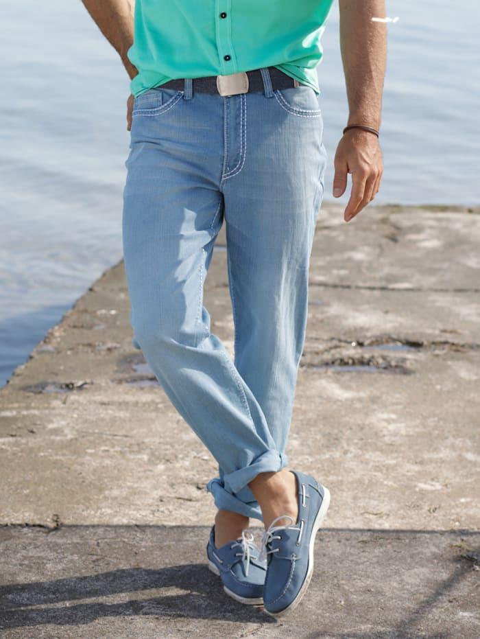 BABISTA Jeans in modischer Used-Optik, Hellblau