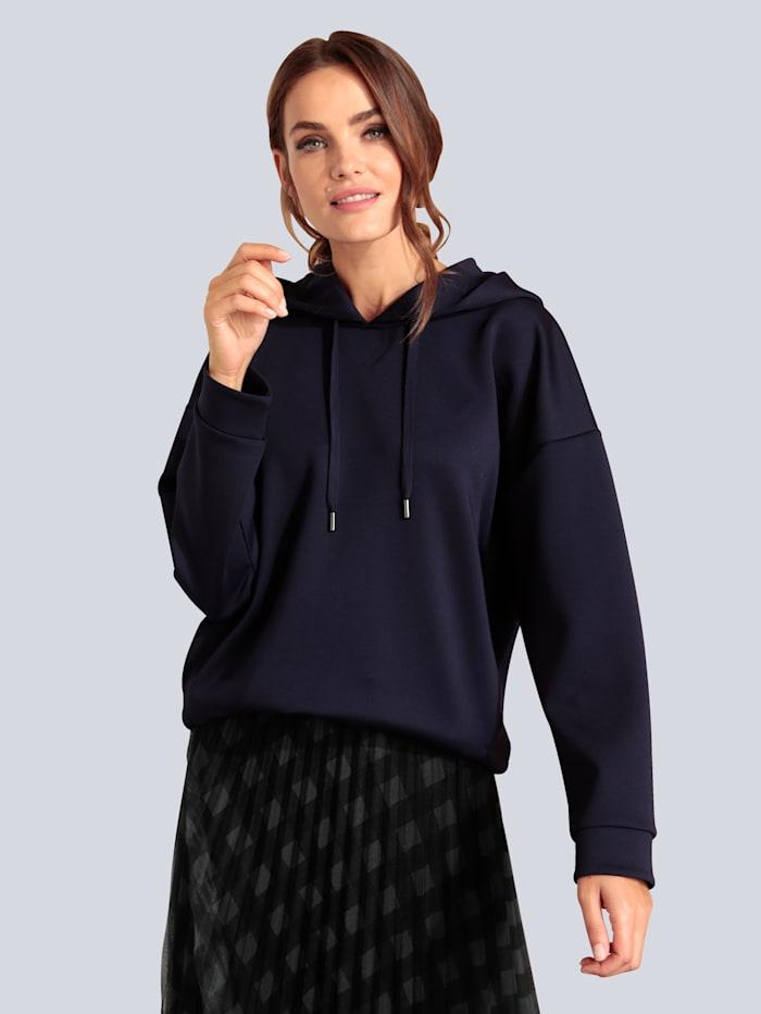 MARGITTES Sweatshirt aus leicht glänzender Ware, Dunkellila