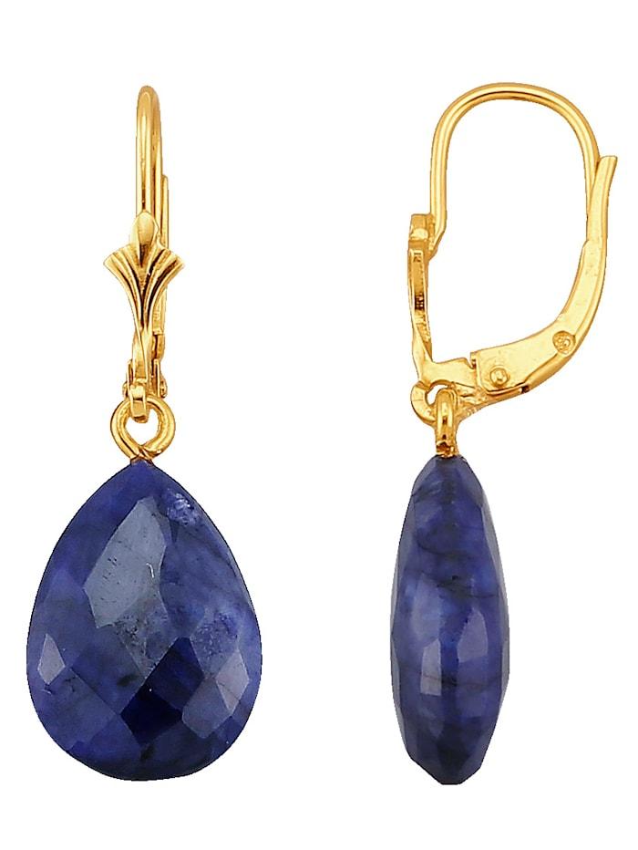 Ohrringe mit Saphir, Blau