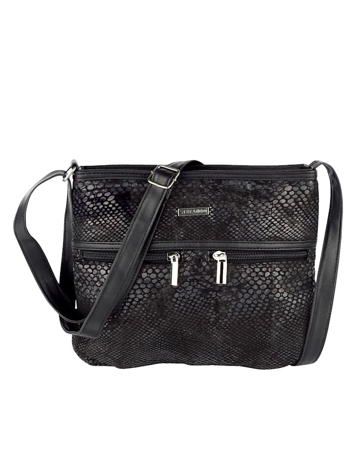 STEFANO Shoulder Bag Harmonious material mix, Black